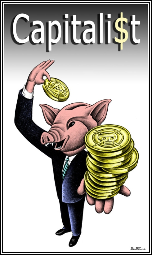 Ούτε ο Τύπος και κυρίως οι χιλιάδες εργαζόμενοι σε αυτόν ξέφυγαν από τα γουρούνια. Το σκίτσο είναι το Ben Heine
